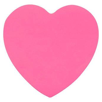 Блок бумаги с липким слоем, сердце, 70х70мм,50л