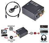 ЦАП Аудио конвертер с оптики(Toslink) на тюльпаны(3.5 Jack), фото 5