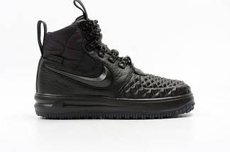 Высокие мужские кроссовки NIKE LUNAR FORSE 1 DUCKBOOT ALL Black Черные, фото 3