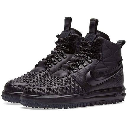 Высокие мужские кроссовки NIKE LUNAR FORSE 1 DUCKBOOT ALL Black Черные, фото 2