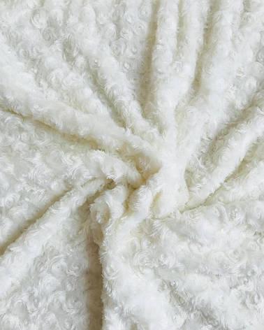 Плюш Minky цветок молочный 280г/м2, фото 2