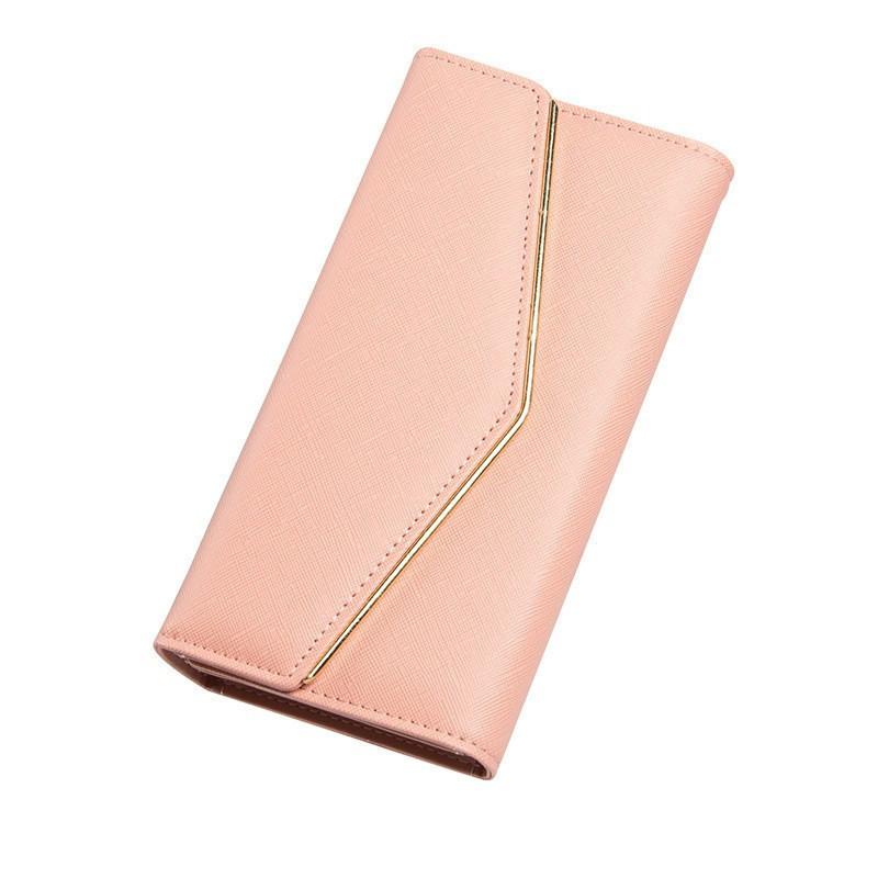 247d825c0422 Женский кошелек большой розовый из экокожи опт купить по выгодной ...