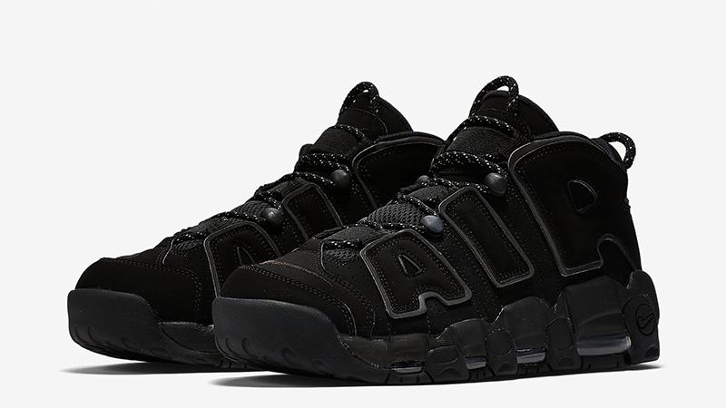 Мужские кроссовки Nike Air More Uptempo 2018 Black Черные