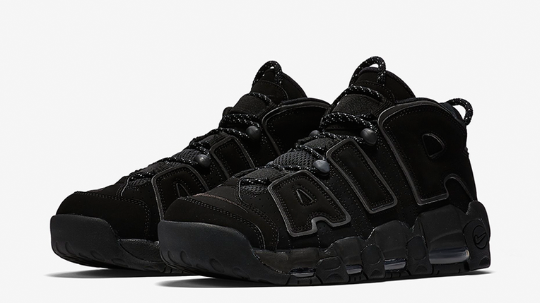 Мужские кроссовки Nike Air More Uptempo 2018 Black Черные, фото 2