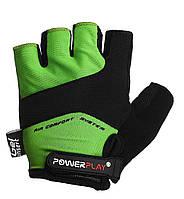 Велорукавички PowerPlay 5013 B Зелені XS, фото 1