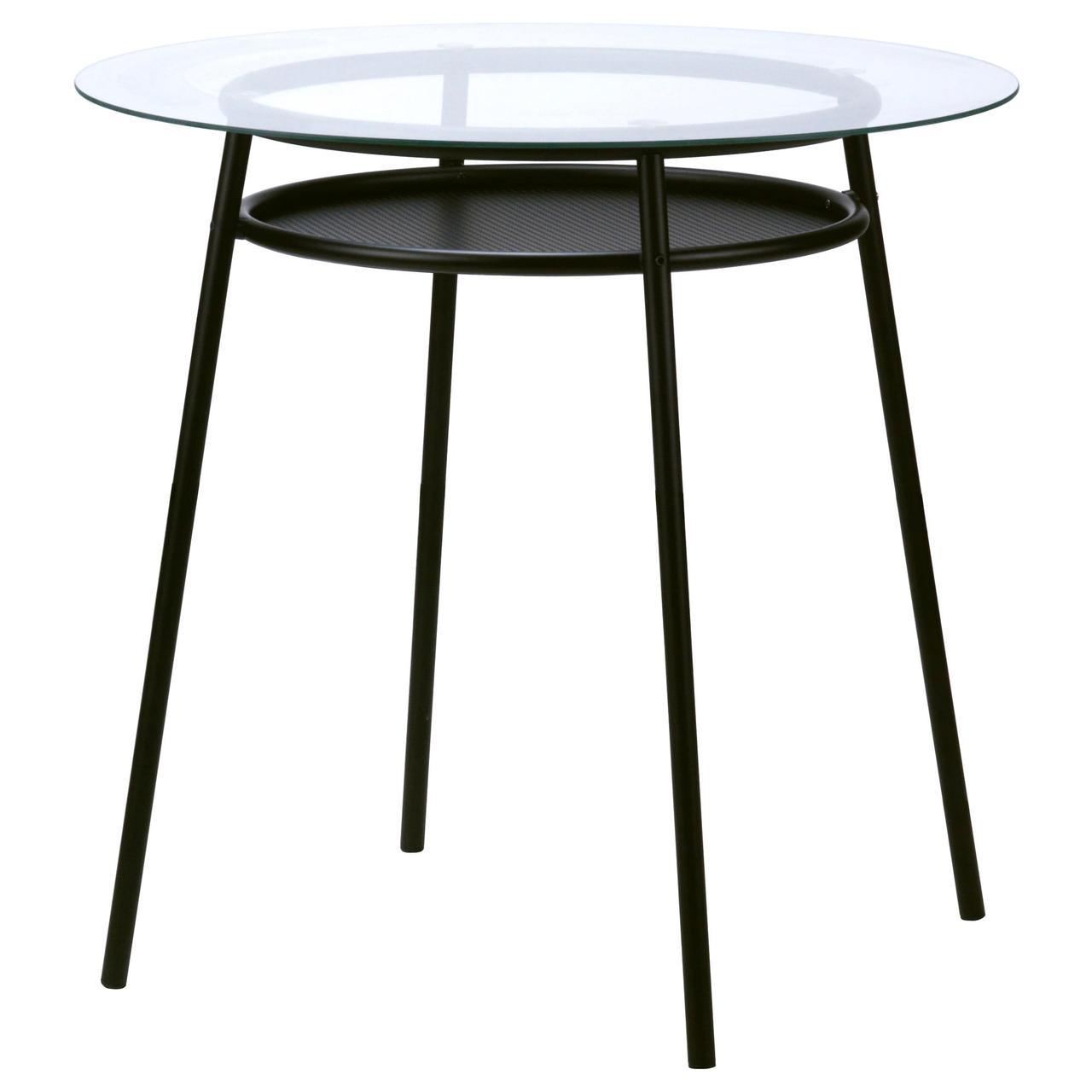 кухонный столик Ikea Allsta стеклянный металлический 70373529
