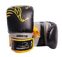 Снарядні рукавиці PowerPlay 3038 Чорно-жовті PU M, фото 1