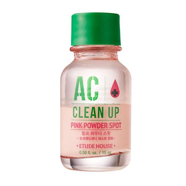 ETUDE HOUSE AC Clean Up Pink Powder Spot Розовая пудра для борьбы с прыщиками, 15 мл