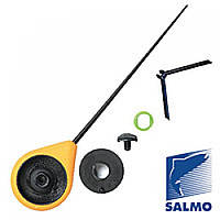 Удочка-балалайка зимняя с подставкой Salmo Sport (желтая) 24см