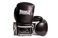 Боксерські рукавиці PowerPlay 3019 Чорні PU 8 oz, фото 1