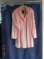 Легкая розовая шубка-манто, фото 1
