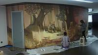 Дизайнерская художественная роспись стен