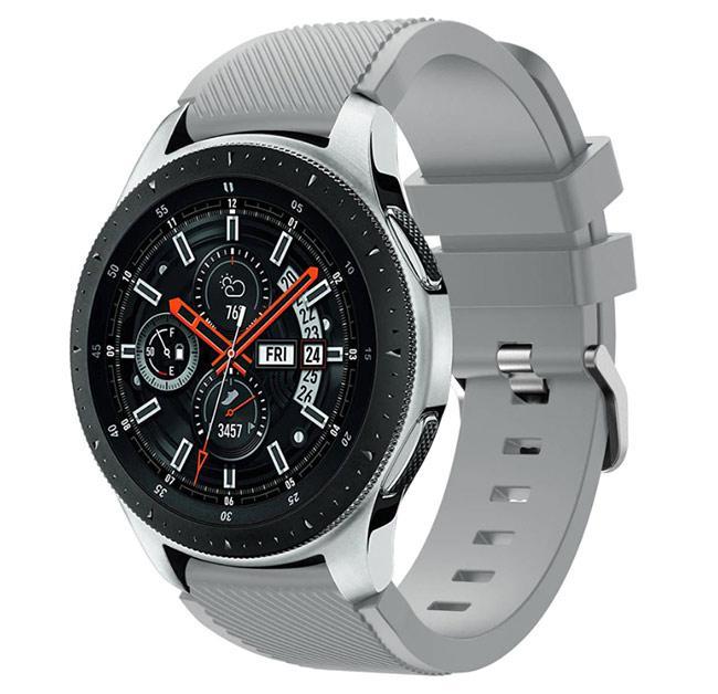 Силиконовый ремешок для часов Samsung Galaxy Watch 46 mm SM-R800 - Grey