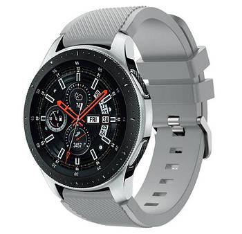 Силіконовий ремінець для годинника Samsung Galaxy Watch 46 mm SM-R800 - Grey