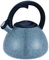 Чайник зі свистком Con Brio 2.5 л СВ-413 - сірий