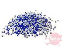 Стразы СИНИЕ Crystal Llized, микс размеров, 720 шт