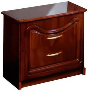 Тумбочка приліжкова з ДСП/МДФ в спальню Камелія Глянцева Світ Меблів