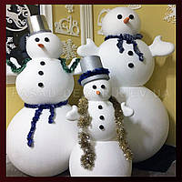 Снеговик из пенопласта 1м