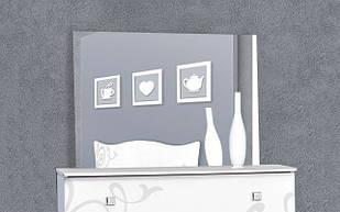 Люстро на стіну з ДСП/МДФ у вітальню спальню Феліція біла Нова Світ Меблів