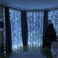Уличная Гирлянда Штора Водопад 480 LED 3м*2м, Цвет белый