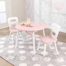 Столик і два стільці Кидкрафт (з сіткою для зберігання), Kidkraft