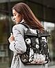 """Жіночий рюкзак Harvest """"ROLL MINI"""" ПРИНТ, КВІТКОВИЙ, фото 3"""