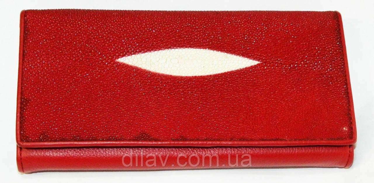 abc7efe9be00 Кошелек женский красный сделанный из натуральной кожи ската - DILAV -  оптовый интернет магазин аксессуаров в