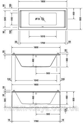 Ванна акриловая Duravit Starck 180x80 700338000000000, фото 2