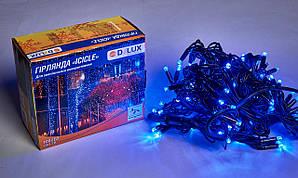 Уличная гирлянда DELUX ICICLE 108LED 2x1m 27 flash синяя/черная IP44 EN