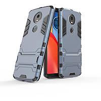 Чехол для Motorola Moto E5 Plus / XT1924-1 Hybrid Armored Case темно-синий