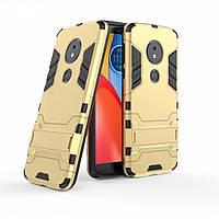 Чехол для Motorola Moto E5 Plus / XT1924-1 Hybrid Armored Case золотой