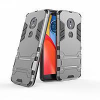 Чехол для Motorola Moto E5 Plus / XT1924-1 Hybrid Armored Case темно-серый