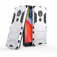 Чехол для Motorola Moto E5 Plus / XT1924-1 Hybrid Armored Case светло-серый