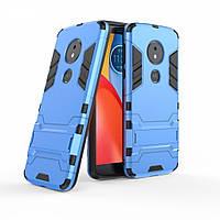 Чехол для Motorola Moto E5 Plus / XT1924-1 Hybrid Armored Case голубой