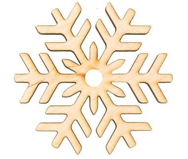Заготовка «Снежинка 7», фанера, Д:10 см