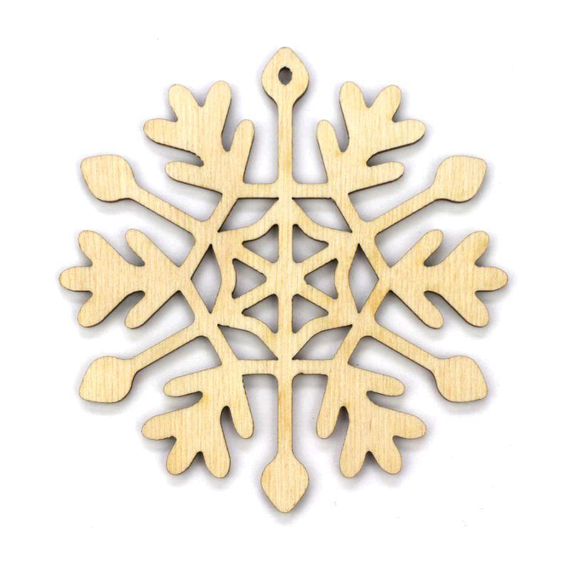 Заготовка «Снежинка 6», фанера, Д:10 см
