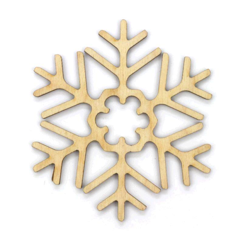 Заготовка «Снежинка 3», фанера, Д:10 см