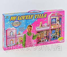 Будиночок для ляльки двоповерховий. Ляльковий будинок ігровий набір, подарунок дівчинці