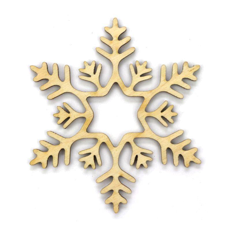 Заготовка «Снежинка 12», фанера, Д:10 см