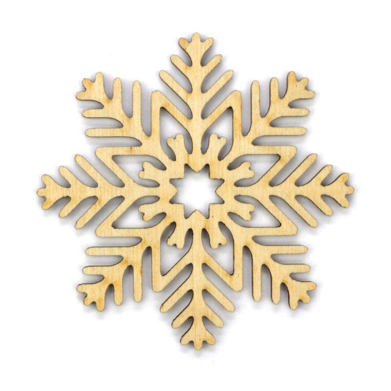 Заготовка «Снежинка 2», фанера, Д:10 см