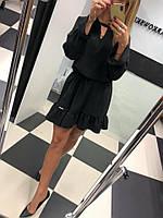 Платье с воланом в расцветках 26086, фото 1