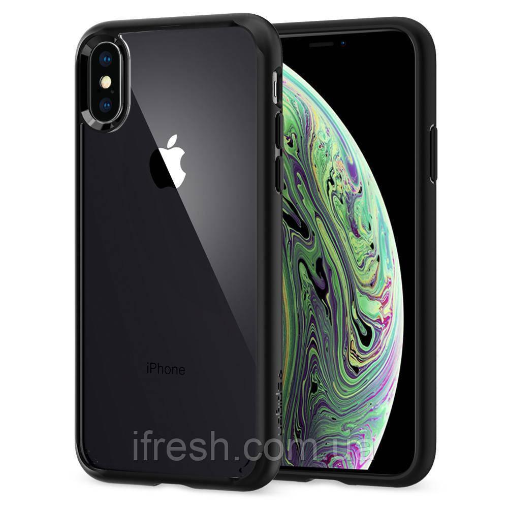 Чехол Spigen для iPhone X Ultra Hybrid, Matte Black
