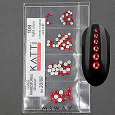 KATTi Стразы стекло в пакете 108 light siam ss3-ss10 100шт, фото 2