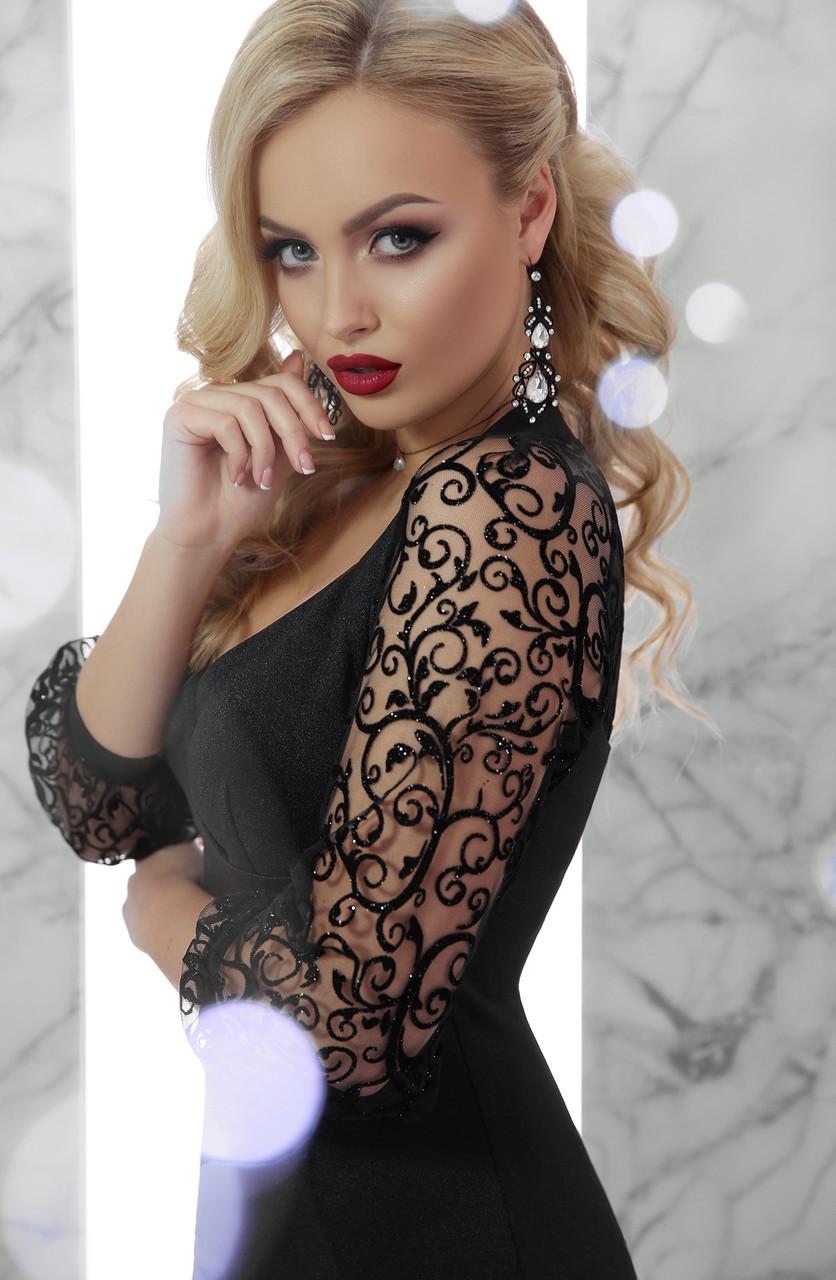 Нарядне чорне плаття Erika ( S 0c20cea90ea65