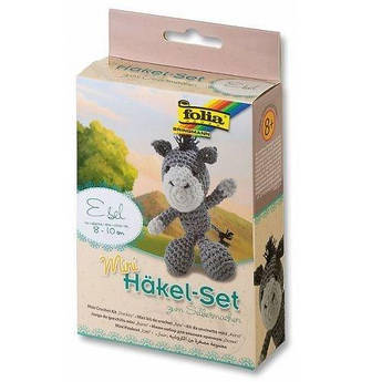 Набор для вязания игрушки Mini, ослик, Folia