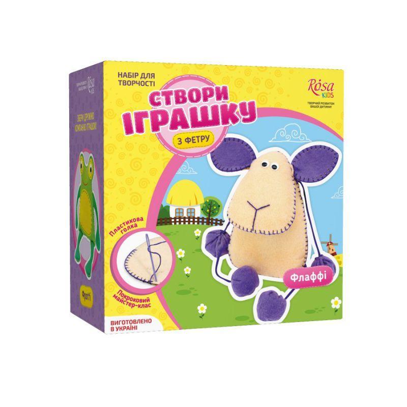 Набор, создай игрушку из фетра, овечка Флаффи, ROSA KIDS