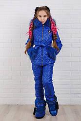 Теплый зимний детский костюм в расцветках (куртка+брюки)