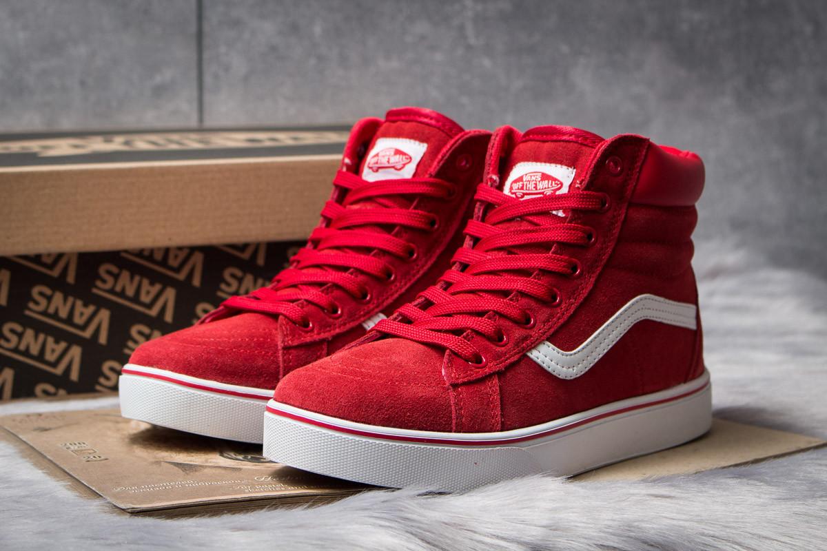 Зимние кроссовки на меху Vans Old School Winter, красные (30723),   36 38  39   41b77db2208