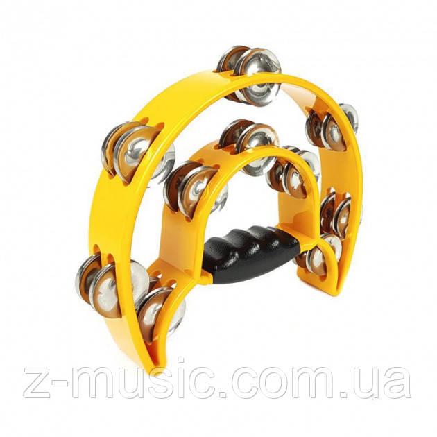 Тамбурин у формі півмісяця АТВ002А Yellow