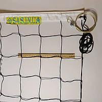 Сетка для волейбола «ПРЕМИУМ 12» с тросом черно-белая, фото 1